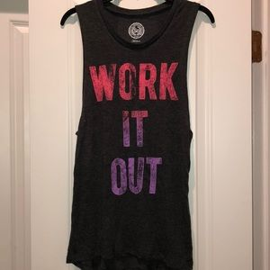 """Work it out"" 💪 tank size medium"